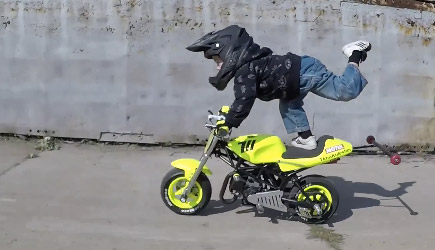 3 Year Old Motorcycle Stunt Driver