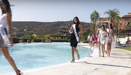 Miss Universe Spain Pool Dip