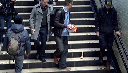 AttractionGym Stairs Dildo Prank