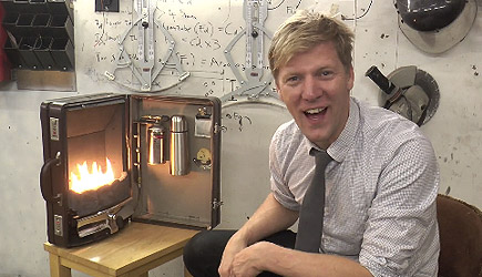 Colin Furze - The Briefcase Fireplace