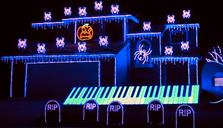 'This Is Halloween' Light Show 2017