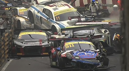 FIA GT World Cup Macau GP Mega Crash