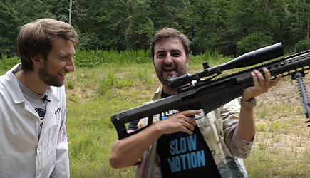 The Slow Mo Guys - .50 Cal Sniper Rifle