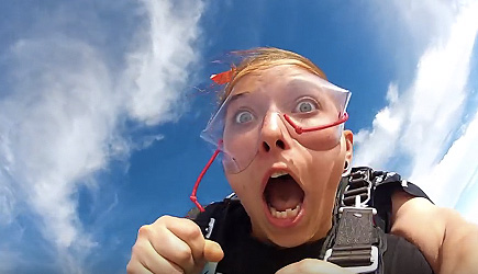 First Skydive Experience - Bye Bye Tooth!