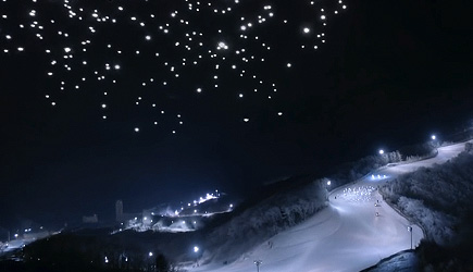 1200 Drones Show At The Olympic 2018 Opening Ceremony