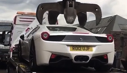 Ferrari 458 Gets Crushed