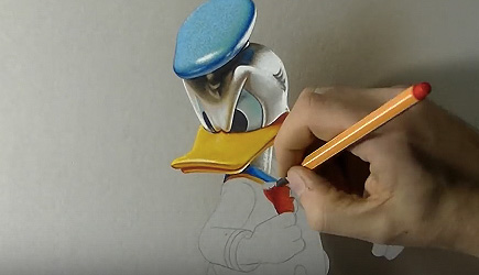 Marcello Barenghi - Drawing 3D Donald Duck