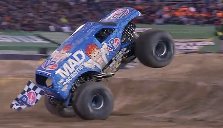 First Ever Monster Jam Truck Front Flip - Lee O'Donnell