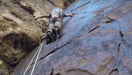 Climber Passed by Free Solo Climber