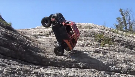 ATV Hill Climb Gone Wrong