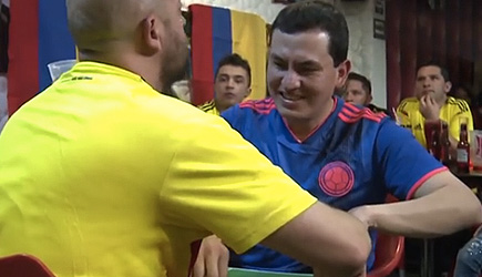 Colombian Man Helps Blind & Deaf Fan Experience The World Cup