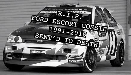 Ken Block's Ford Escort Cosworth R.I.P.