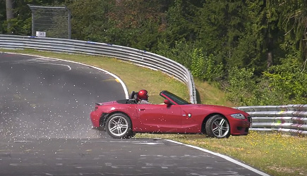 Nürburgring BMW Z4 M Roadster Crash