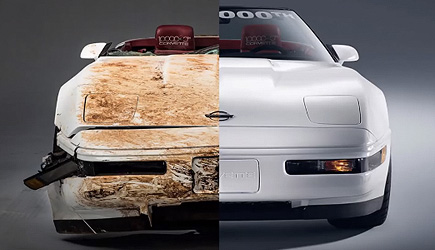 Restoration of the 1 Millionth Sinkhole Destroyed Chevrolet Corvette