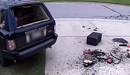 Driver Tries To J-Turn Range Rover