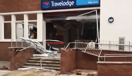 Guy Destroys Travelodge Hotel After Not Getting Paid