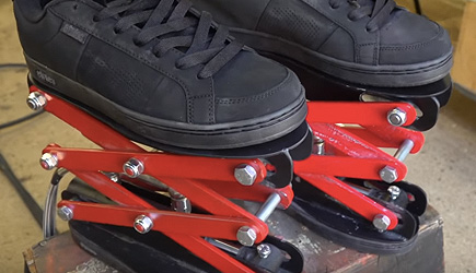 Colin Furze -Real Hydraulic Scissor Lift Shoes