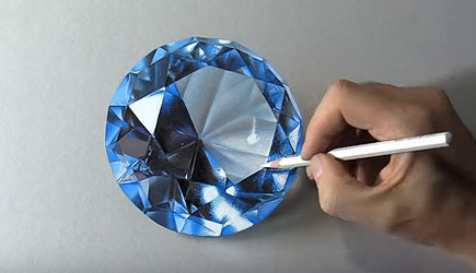 Marcello Barenghi - Drawing A Blue Diamond