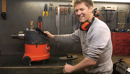Colin Furze - Jet Powered Vacuum Cleaner, Henry, Frank