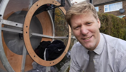 Colin Furze - Wind/Solar Powered Clothes Dryer