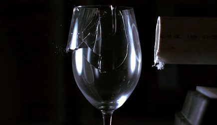 The Slow Mo Guys - Shattering A Wine Glass With Sound
